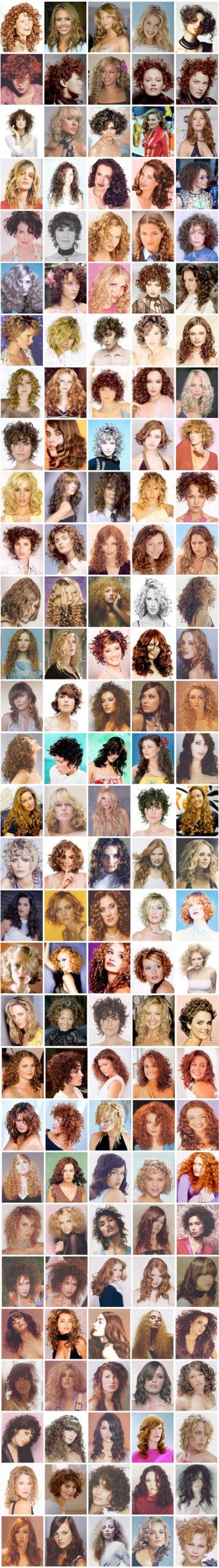 Coupe de cheveux bouclés pour femme