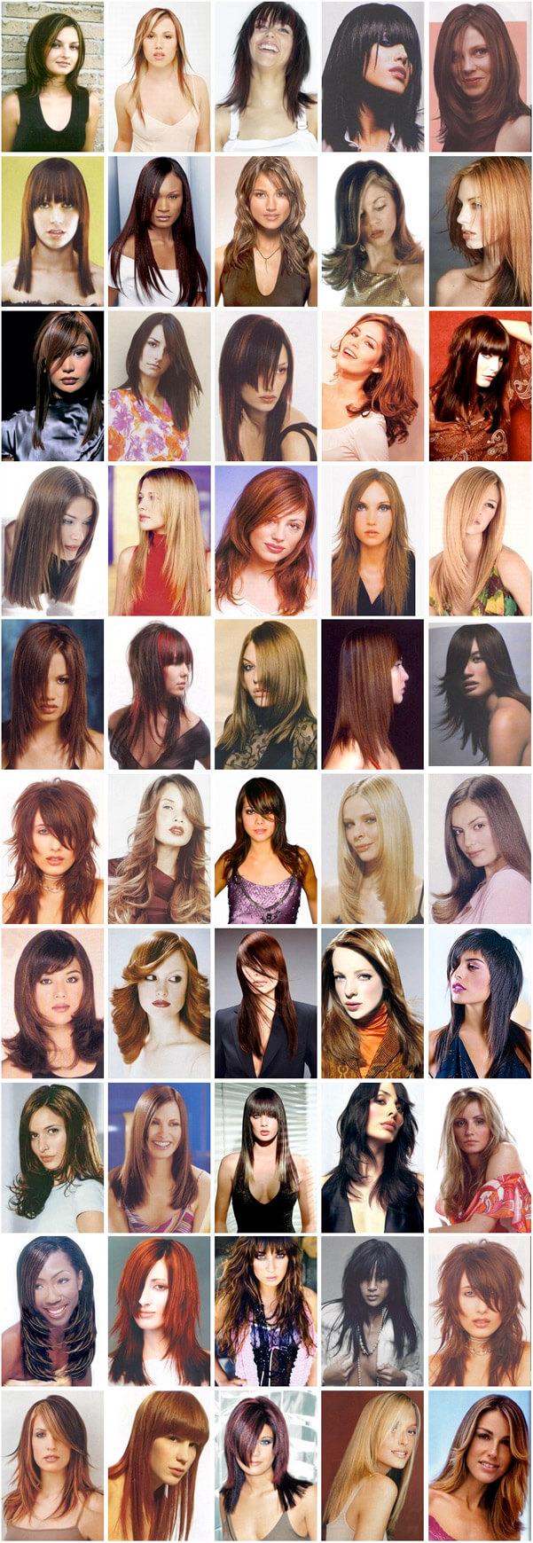 Coupe de cheveux longue pour femme