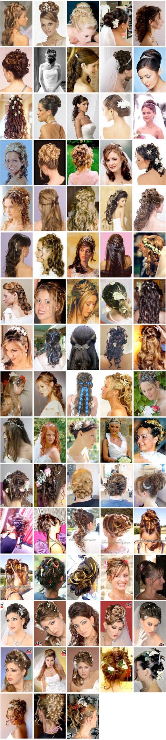 Coupe de cheveux pour mariage